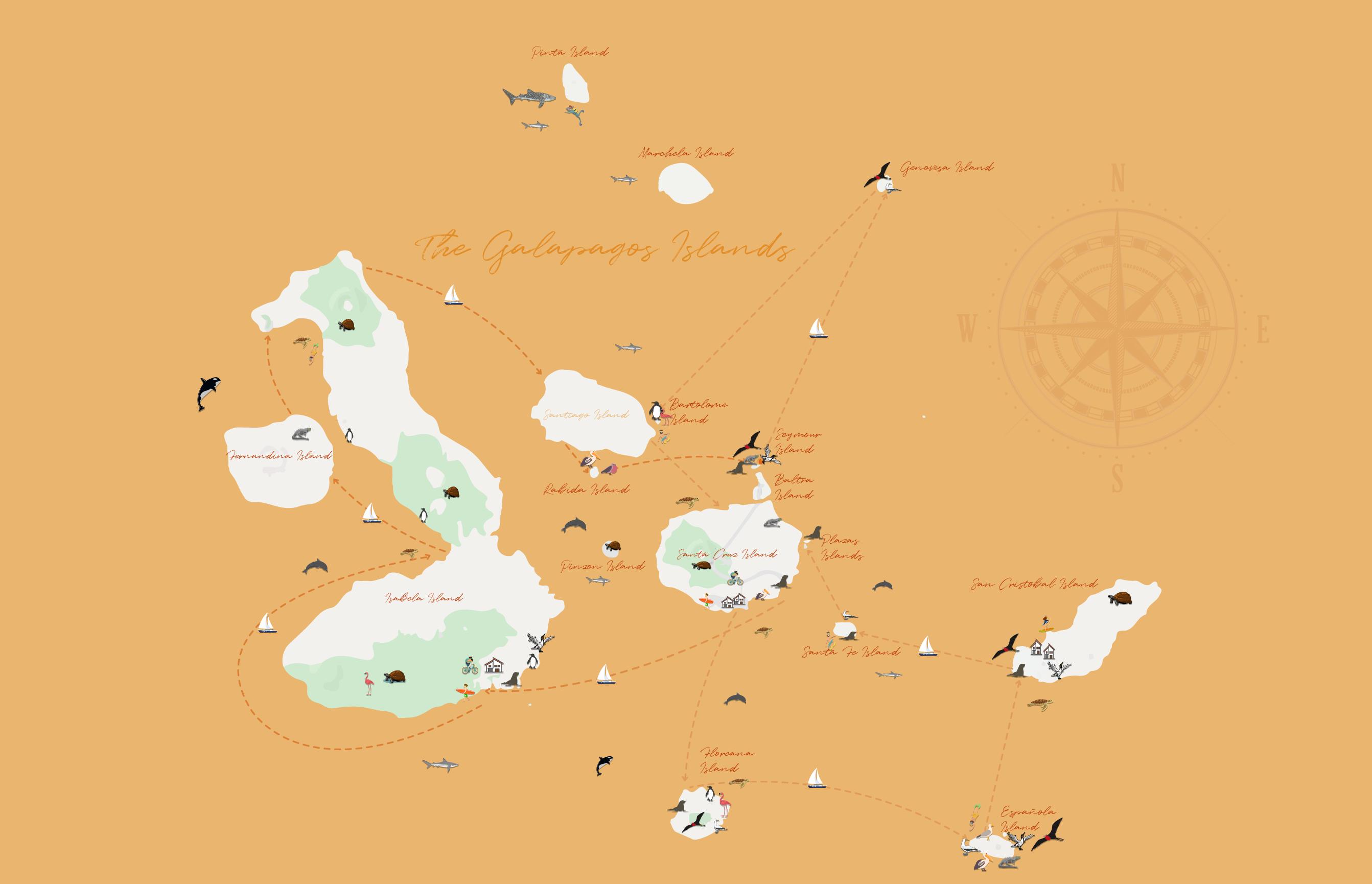 Galapagos Islands Map
